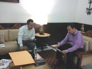 Reunión Fundación UCOL y Federico Rangel