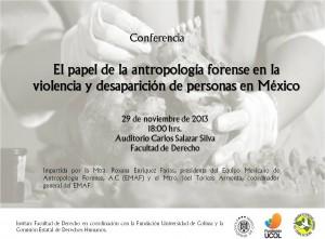 Conferencia Antropología Forense