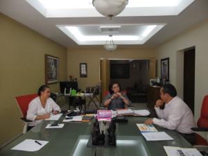 Reunión señora Alicia López